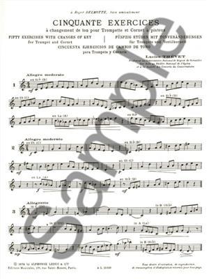 Lucien Thévet: Lucien Thevet: 50 Exercices a Changements de Tons: Trumpet