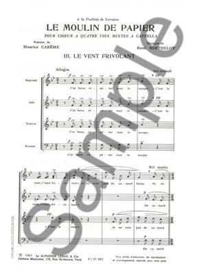 René Berthelot: Le Moulin de Papier No.3 - Lamento dun Trenu: Mixed Choir