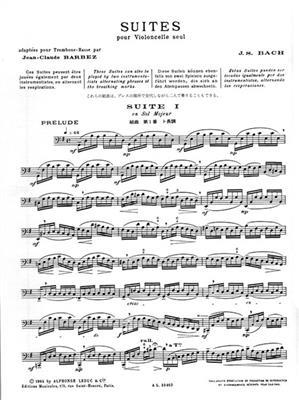 Johann Sebastian Bach: Suites For Solo Cello: Trombone