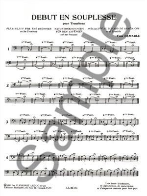 Yves Demarle: Début En Souplesse: Trombone