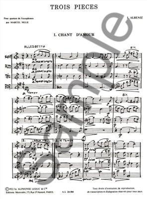 Isaac Albéniz: 3 Pieces: Mulle: Saxophone Ensemble