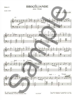 Annie Challan: Broceliande: Harp