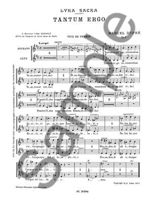 Marcel Dupré: Tantum Ergo (Soprano And Alto Voices): Soprano & Alto