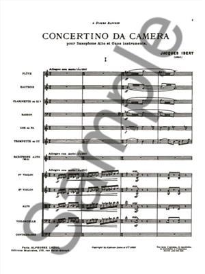 Jacques Ibert: Concertino Da Camera: Orchestra