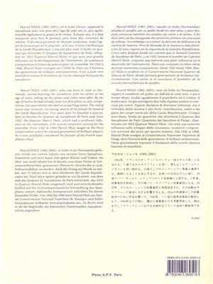 Marcel Mule: Gammes et Arpèges en trois cahiers, Vol. 3: Saxophone