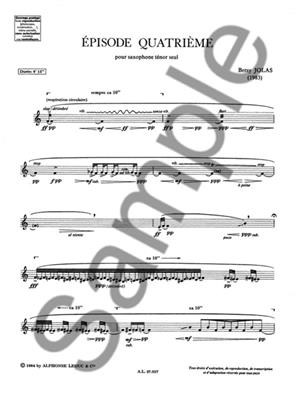 Betsy Jolas: Episode Quatrième: Saxophone