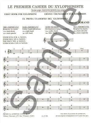 Jorand: Cahier Du Xylophoniste N01: Mallet Percussion