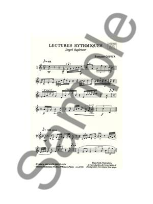 Coppin: Lectures Rythmiques Degre Superieur: Books on Music