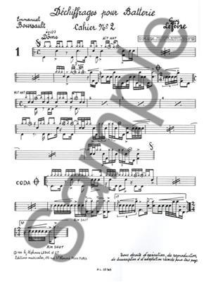 Emmanuel Boursault: Dechiffrage Vol.2 - Conte de Noel: Drums and Percussion