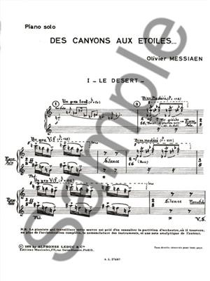 Olivier Messiaen: Des Canyons Aux Etoiles: Piano or Keyboard