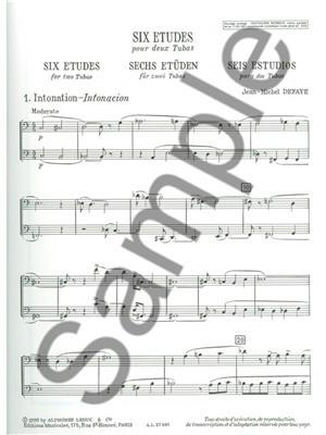 Jean Michel Defaye: 6 Etudes: Tuba