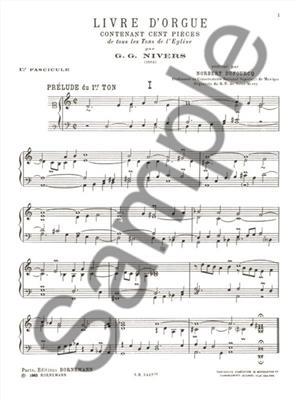 Guillaume Gabriel Nivers: Livre D'Orgue No. 1 Vol. 1 (Organ): Organ