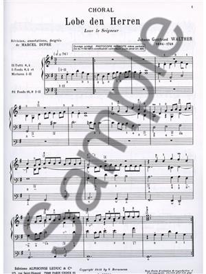 Walther: Choral:Lobe Den Herren-Loue Le