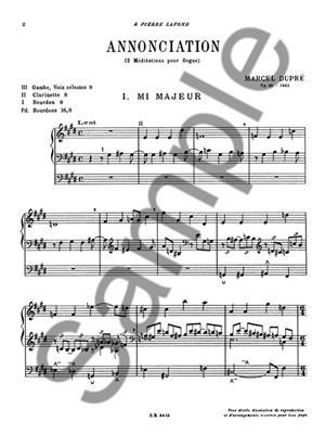 Marcel Dupré: Annonciation Op.56: Organ