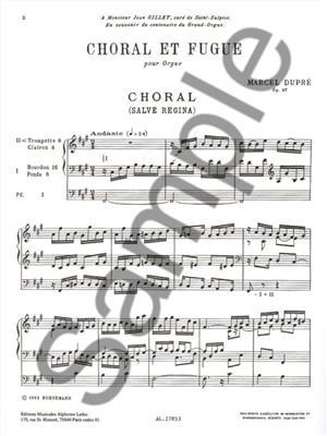 Dupre: Choral Et Fugue/Op57: Organ
