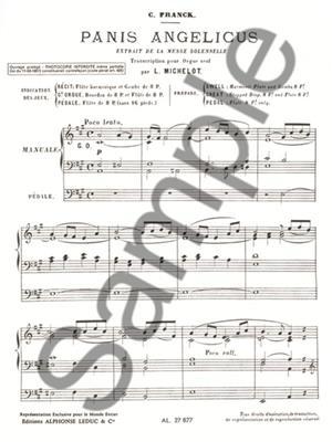 César Franck: Panis angelicus: Organ
