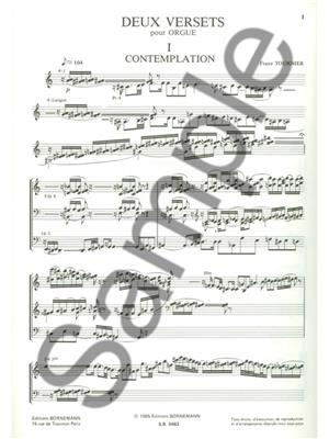 Marcel Tournier: 2 Versets: Organ