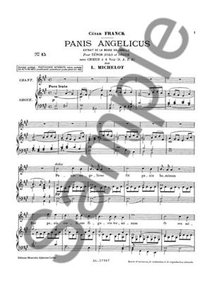 César Franck: Panis Angelicus (Vocal Score): Mixed Choir