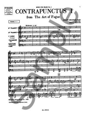 Johann Sebastian Bach: Art Of Fugue/Contrapunctus 1: Brass Ensemble