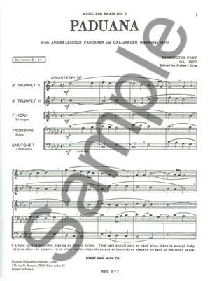 Grep: Paduana: Brass Ensemble