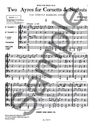 Adson: 2 Ayres For Cornetts/Sagbuts: Brass Ensemble