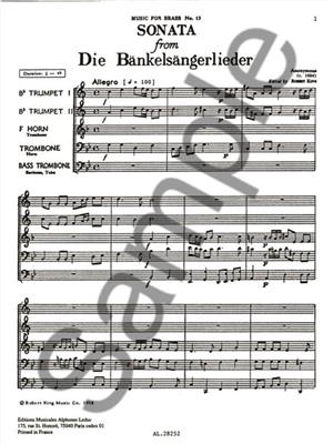 Sonata From Die Bänkelsängerlieder: Brass Ensemble