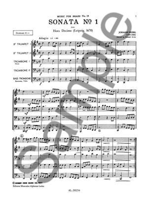 Pezel: Sonata N01-Hora Decima: Brass Ensemble