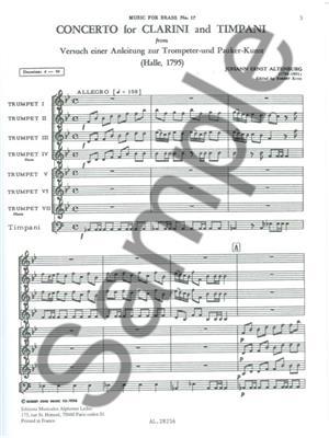 Johann Ernst Altenburg: King Concerto: Trumpet, Cornet or Flugelhorn