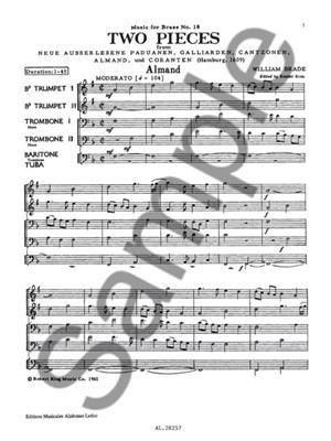 Brade: Two Pieces: Brass Ensemble