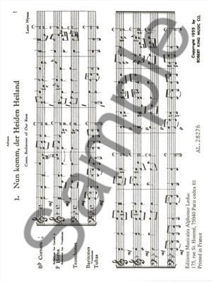 Johann Sebastian Bach: 22 Chorals (Quartet-Brass): Brass Ensemble