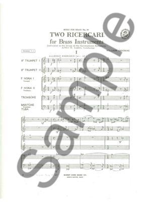 Osborne: 2 Ricercari: Brass Ensemble