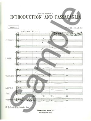 Marks: Introduction And Passacaglia: Brass Ensemble