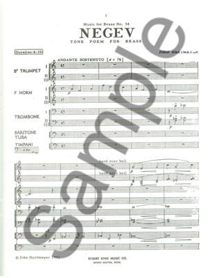 Hartmeyer: Negev: Brass Ensemble