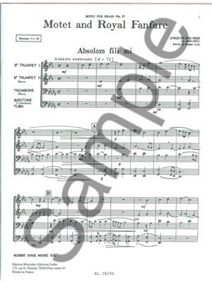 Josquin des Prés: Motet And Royal Fanfare: Brass Ensemble