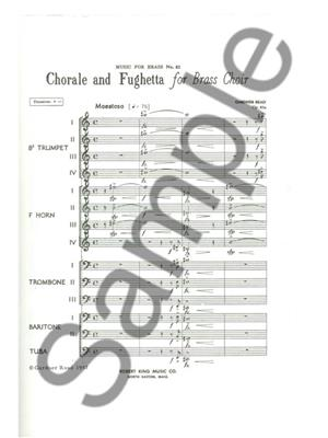 Read: Chorale And Fughetta: Brass Ensemble