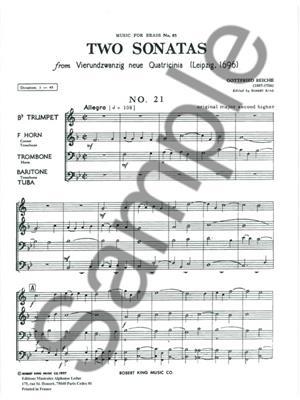Reiche: 2 Sonatas-N021 And N022: Brass Ensemble