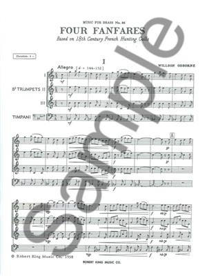 Willson Osborne: Willson Osborne: 4 Fanfares: Trumpet Ensemble