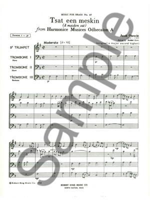 Obrecht: Tsat Een Meskin: Brass Ensemble
