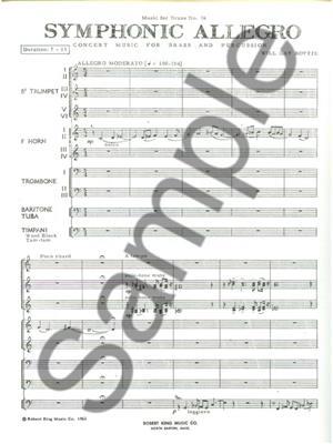 Bottje: Symphonic Allegro: Brass Ensemble