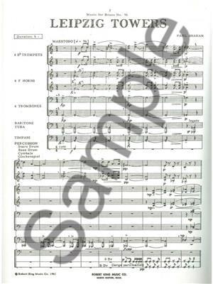Shahan: Leipzig Towers: Brass Ensemble