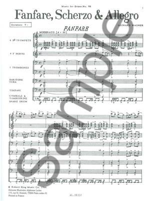 Lavern Wagner: Fanfare Scherzo And Allegro: Brass Ensemble