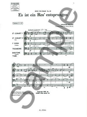 Johannes Brahms: Es Ist Ein Ros'Entsprungen: Brass Ensemble