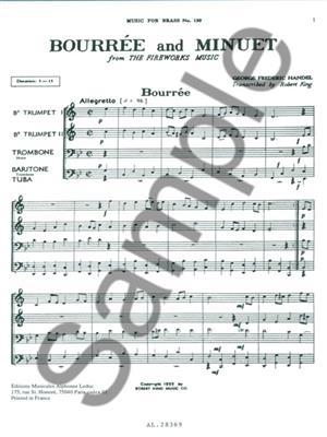 Georg Friedrich Händel: Bourree And Minuet-Fireworks: Brass Ensemble