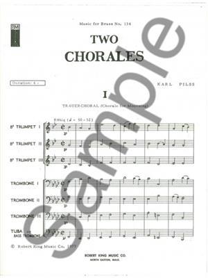 Pilss: 2 Wedding Chorales: Brass Ensemble