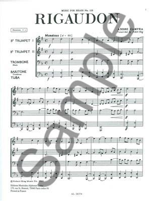 André Campra: Rigaudon: Brass Ensemble