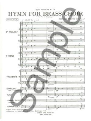 Goldman: Hymn For Brass Choir: Brass Ensemble