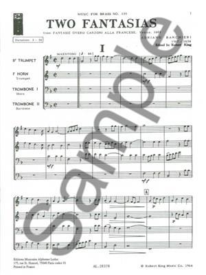 Banchier: 2 Fantasias: Brass Ensemble
