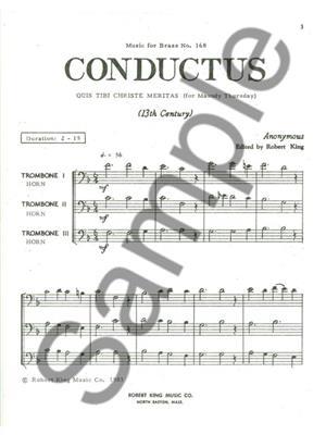 Robert King: Conductus: Horn Ensemble