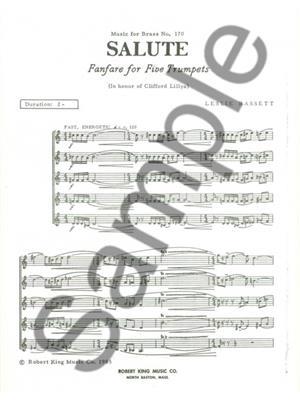Leslie Bassett: Basset Salute Mfb170 5 Trumpets: Trumpet, Cornet or Flugelhorn