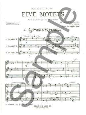 Orlando di  Lasso: 5 Motets from Magnus Opus Musicum: Trumpet Ensemble